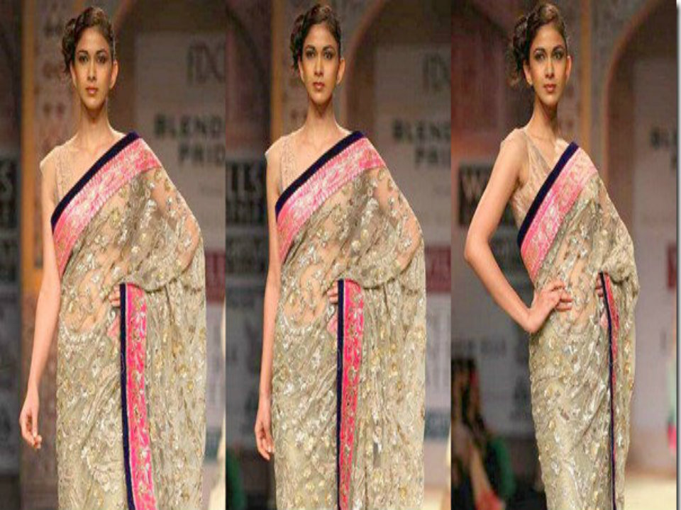 62236742efb633 Choose From Manish Malhotra s Designs Your Farewell Saree - ScoopNow