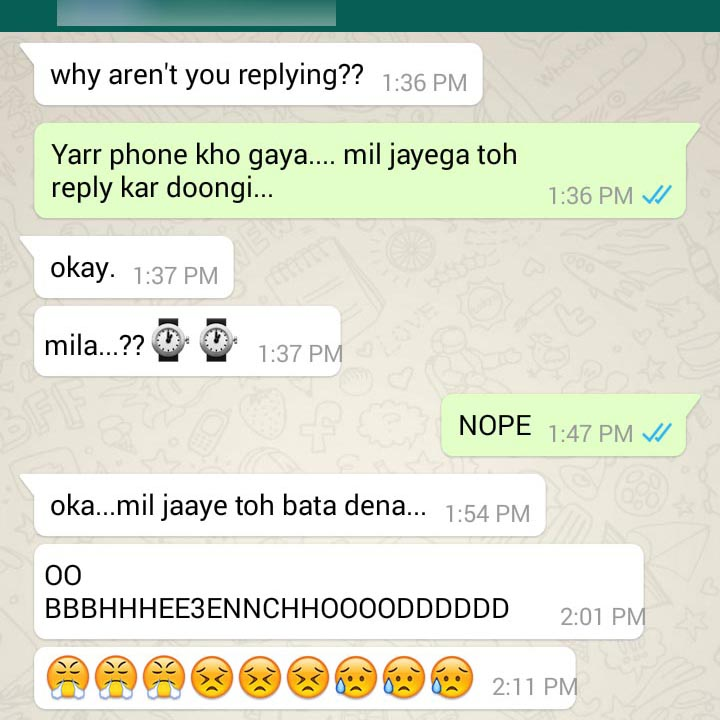 10+ Hilarious Indian Whatsapp Chats That Would Make You ... |Funny Whatsapp Chats